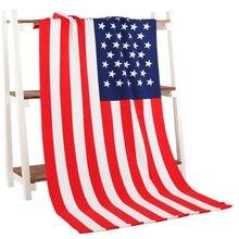 Flag Printed Beach Towel Microfiber Bath Towel For Adult Reactived Printed Beach