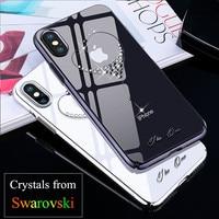 KINGXBAR For IPhone X 10 Case Crystals From Swarovski PC Hard Crystal Diamond Rhinestone Case For