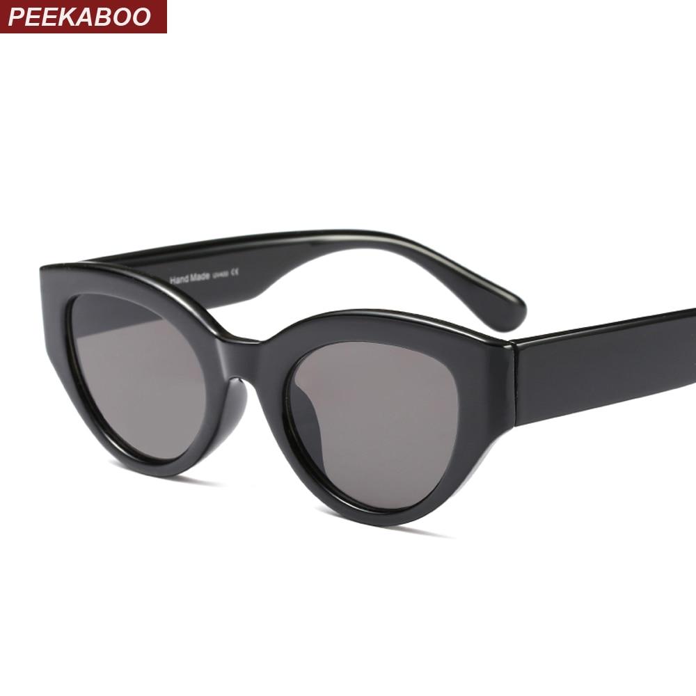 Peekaboo rojo retro gafas de sol mujer ojo de gato 2018 leopardo negro blanco gato ojos gafas de sol para Mujeres Hombres UV400