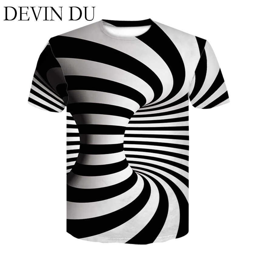 Черный и белый Вертиго гипнотический печати Футболка Unisxe Забавные футболки с коротким рукавом для мужчин/wo для мужчин топы корректирующие Мужчин's 3D футболки 2018