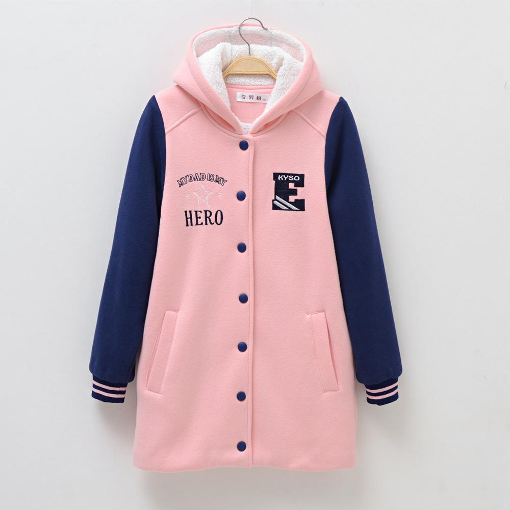 Girls Fleece Hoodies Warm Long Jackets <font><b>for</b></font> age <font><b>8</b></font> 10 12 14 <font><b>years</b></font> Teenage Girl <font><b>Clothes</b></font> Autumn <font><b>Winter</b></font> Spring <font><b>Children</b></font> Outerwear image