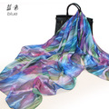 Peacesky 079 listrado flor de design da marca 2015 das mulheres da moda praia cachecol grandes lenços de seda das senhoras xales estolas quentes macios