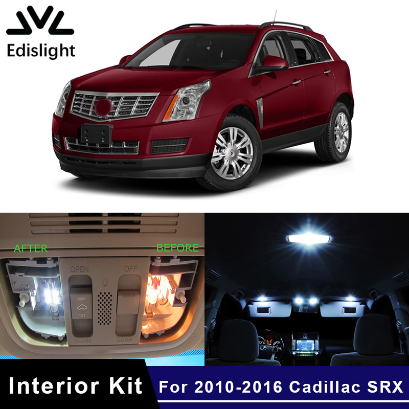 Edislight 15pcs No Error Canbus Led Lamp Car Bulbs Interior Package Kit For 2010-2016 Cadillac Srx Map Dome Door Trunk Light To Be Highly Praised And Appreciated By The Consuming Public