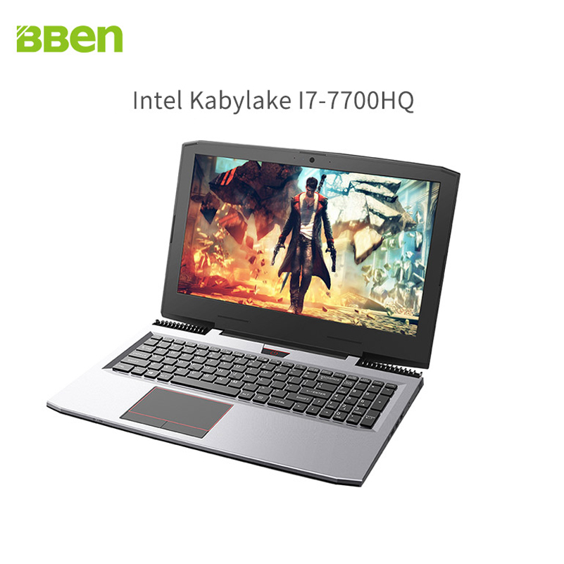 Bben gaming laptop notebook computer with intel i7 7700HQ quad core NVIDIA GeForce GTX1060 32GB DDR4