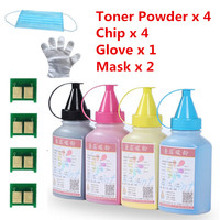 For HP CE410 411 412 413 Toner Powder And Chip For HP LaserJet Pro 400 Color