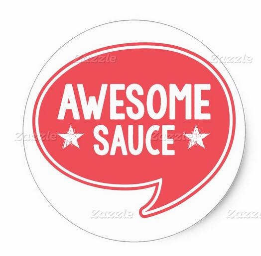 1.5inch Awesome Sauce Text Balloon Classic Round Sticker