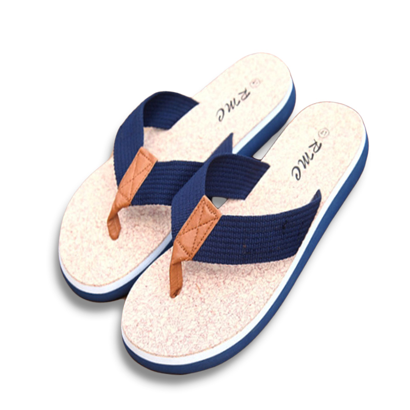 New Summer Brand Men Flip Flops Printing Eva Ribbon Non-Slip Soft Slides Home Slippers Casual Playa Tongs Sandals Beach Shoes coolsa men s non slip linen slippers zapatos hombre eva soles canvas cotton fabric vamp slippers men s slides fashion flip flops