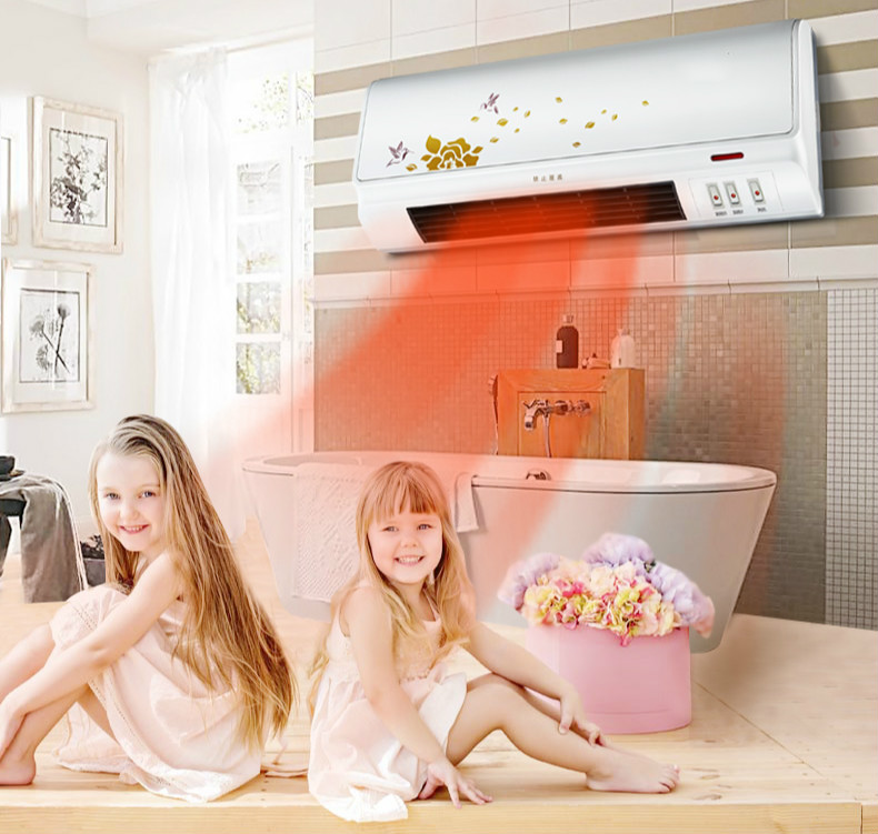 heater is used for the use of remote control wall bathroom waterproof electric heating