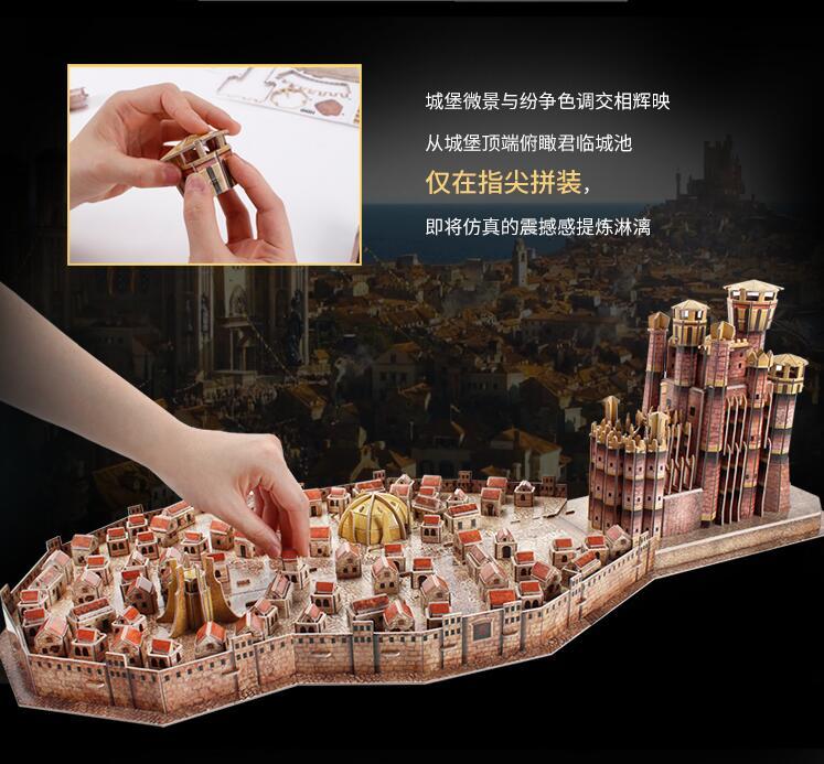 CubicFun 3D puzzle en papier modèle de construction assembler main travail jeu jouet roi de débarquement Architecture célèbre château construire Place 1 pc - 4