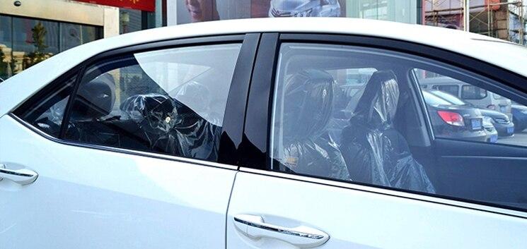 for toyota RAV4 2007-2013 2014-2017 Corolla 2007-2013 2014-2017 MARK 2010-2016 Window column Decoration trim Black mirror