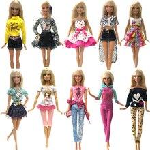 NK 2019 nuevo vestido de la muñeca de moda Casual ropa hecha a mano ropa para muñeca Barbie accesorios mejor DIY juguetes muñeca JJ