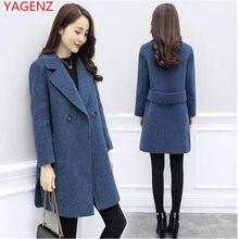 9bbec1412 Outono Inverno Novos Topos quente casaco de inverno casaco de caxemira das mulheres  Plus Size Elegante