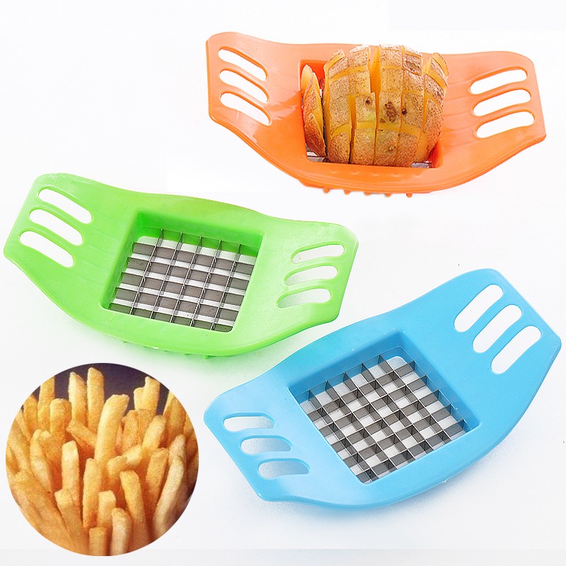 Wholesale French Fry Fries Cutter Potato Vegetable Slicer Tools Chopper Stainless Steel Potatoes Cutting Device Cooking Tools
