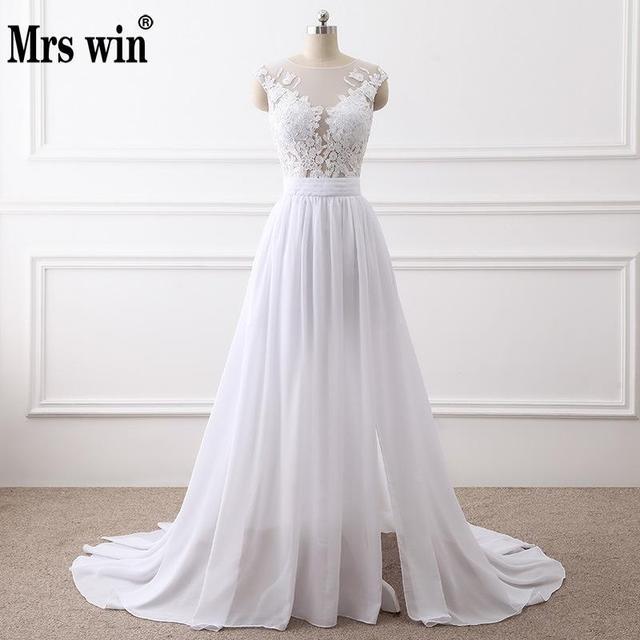 2018 New Simple Elegant Wedding Dress Beautiful Lace A Line Wedding