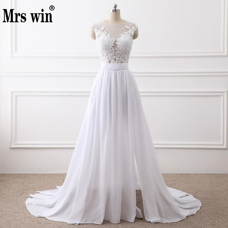 Beautiful Dresses To Wear To A Wedding: 2019 New Simple Elegant Wedding Dress Beautiful Lace A