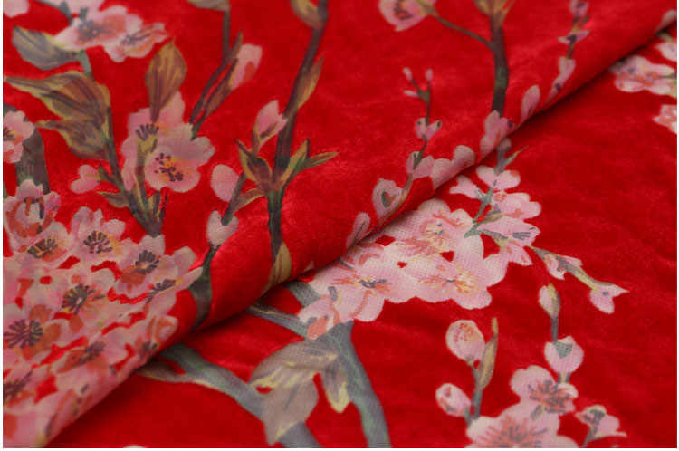 Telas algodon 3d шелковая бархатная ткань цветы tessuto velours thermocollant tissu japonais платье костюм хлопок ткань метр замша ткань трикотаж жаккардовая ткань бархат ткань трикотаж ткань Ткань ткани