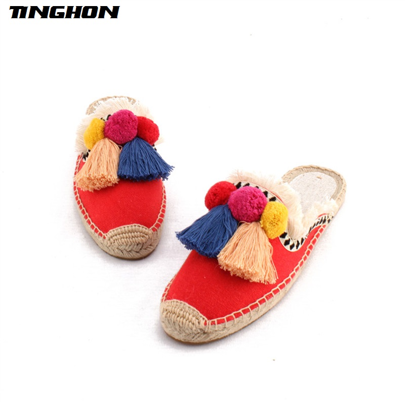 TINGHON-NEW-Summer-Linen-Flax-Cork-Women-Slides-Hand-made-Slippers-Tassels-Triple-Chuzzle-Fishermen-Shoes (1)