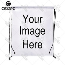 Your image photo Print Custom individual Nylon fabric Drawstring Bag Backpack gift Pack of 4(China)