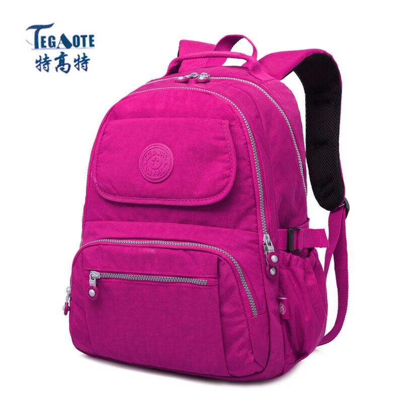 TEGAOTE School Backpack for Teenage Girls Mochila Feminina Escolar Women Backpacks Nylon Waterproof Casual Laptop Bagpack Female ranhuang women casual canvas backpack new 2017 women s fashion backpack school bags for teenage girls mochila feminina a695