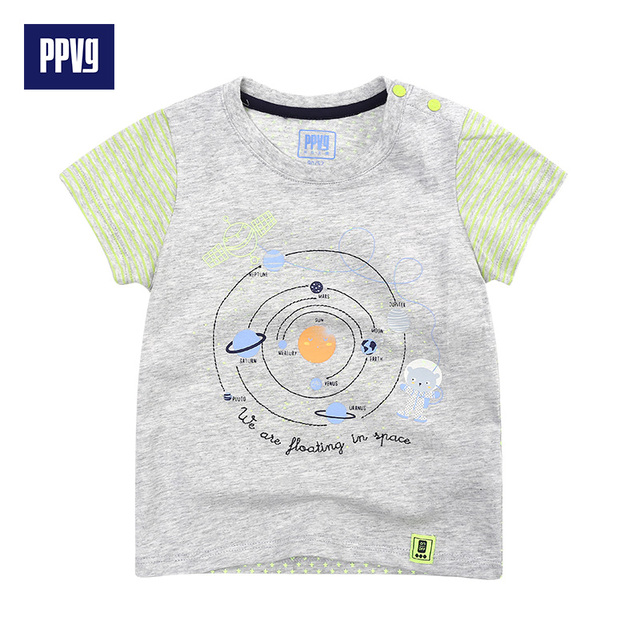 PPVG Baby Boy T Shirt Short Sleevels For Children's O-Neck T-shirts baby Clothes 2017 Summer New Style Hot Sale Free shipping