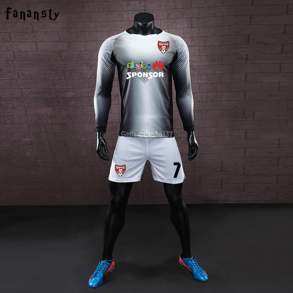 College soccer jerseys men custom football uniforms youth adult training soccer  sets kit long sleeve survetement football 2017 35032fc47