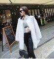 Genuina visión de la cachemira de la mujer suéter cardigan de cachemira pura de punto de visón moda de invierno chaqueta de largo abrigo de pieles envío libre M26