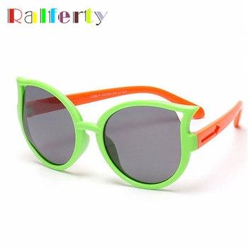 Ralferty Girls Kids Cat Eye Sunglasses P...