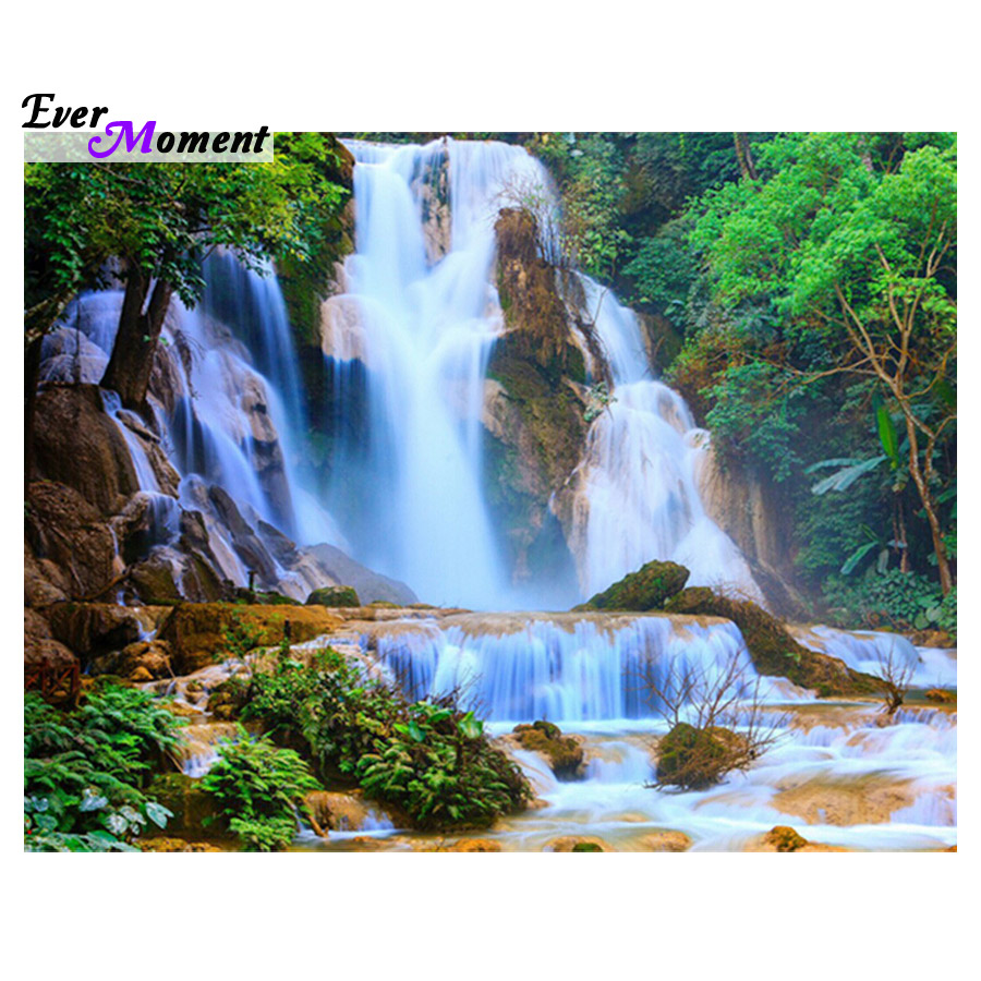 Home Decoration Waterfall 30x40 Diamond Embroidery Diy Diamond Drill Rhinestone Pasted Crafts Needlework Gift Asf222