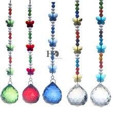 Window Hanging 5 pcs Sun-catcher Crystal, Octagon Beads Chain Sphere Chandelier Lamps, Light Pendant Curtain Wedding Decoration Gift