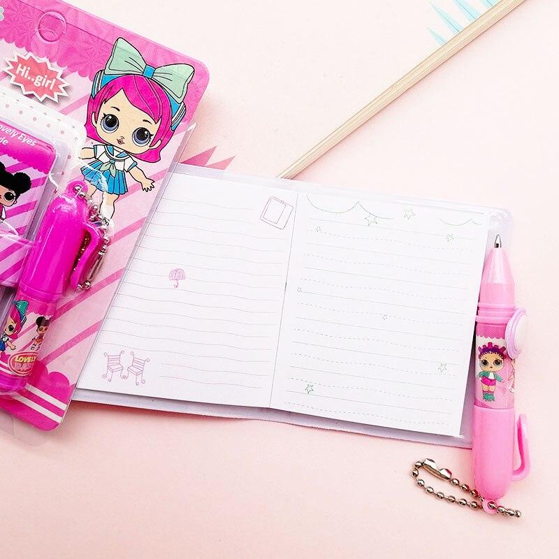 1 шт. кукольный блокнот с шариковой ручкой милый каваи девушка Дневник для письма для детей подарок школьные канцелярские принадлежности