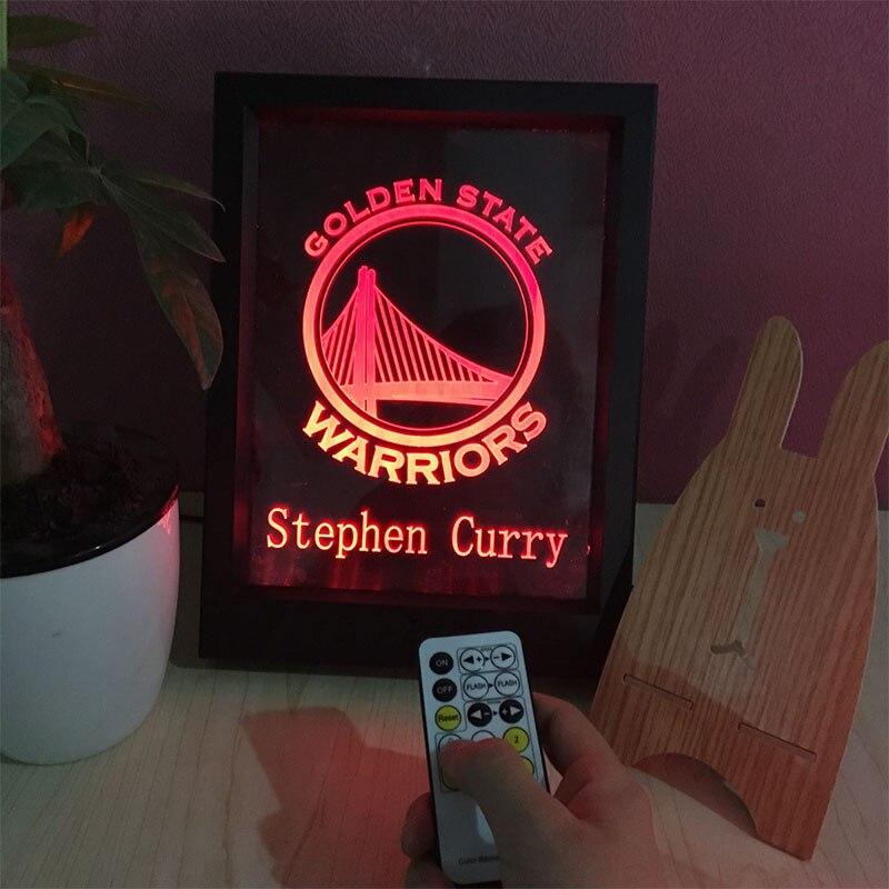 3D LED Bilderrahmen LICHT NBA GOLDEN STATE WARRIORS Nacht licht ...
