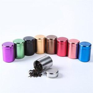 Герметичный контейнер с защитой от запаха, алюминиевая банка для чая с травой, герметичная, довольно одноцветная емкость для приправ, кухон...