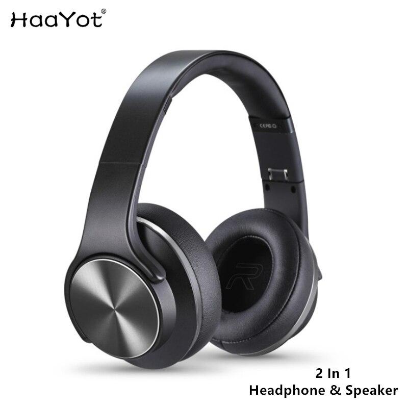 HAAYOT słuchawki z bluetooth Twist out 2 w 1 głośnik V4.2 sporty bezprzewodowe zestaw słuchawkowy z mikrofonem NFC FM dla Iphone telefony xiaomi