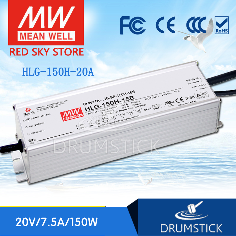 цена на Advantages MEAN WELL HLG-150H-20A 20V 7.5A HLG-150H 150W Single Output LED Driver Power Supply A type [Real1]