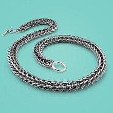 Vintage Stil Thai Silber Halskette Absätze Mann Herrisch Kiel Silber Halskette Dicken Silber Halskette Mit Exquisite Prozess