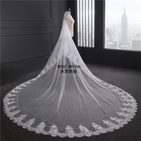 Generous Bridal Veils 3 M Widht 3 5 Meters Length Soft Tulle High Quality Luxury Veil