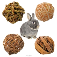 4 шт., игрушки для жевания кроликов, птиц, попугаев