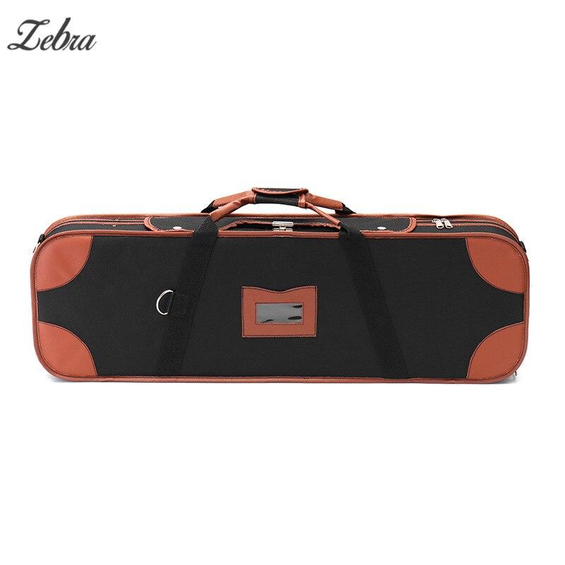 Boîte de Violion Portable Zebra 4/4 avec sangles de Table d'humidité verrouille les accessoires d'instruments à cordes confortables imperméables