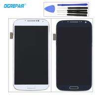 White Blue For Samsung Galaxy S4 I545 L720 R970 LCD Display Touch Screen Digitizer With Frame