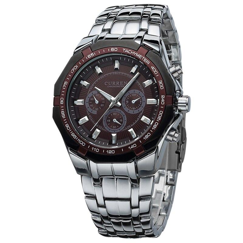 Relogio Masculino Mens Watches Top Brand Luxury Curren Original Watch Full Steel Quartz Wristwatches  Fashion 8084 2
