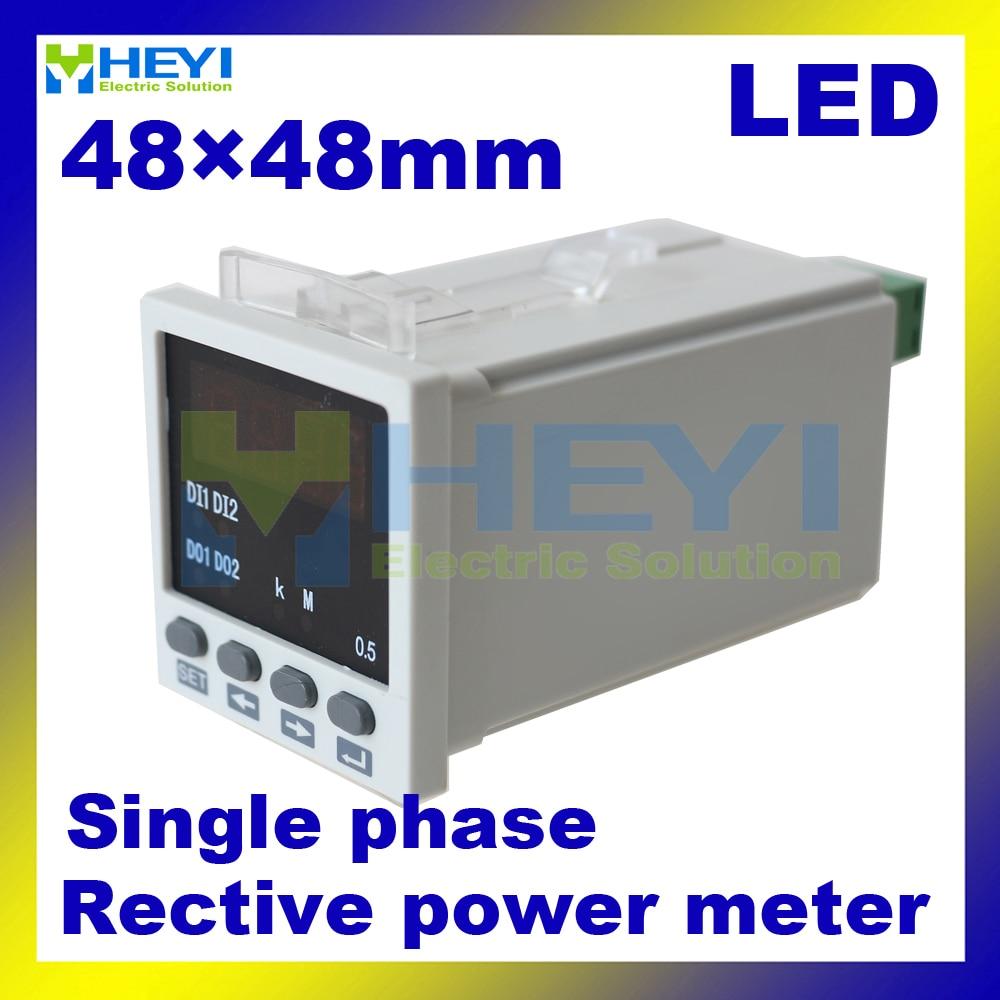все цены на  reactive power digital meters 48*48mm LED power meter single phase Class 0.5 digital watt meter  онлайн