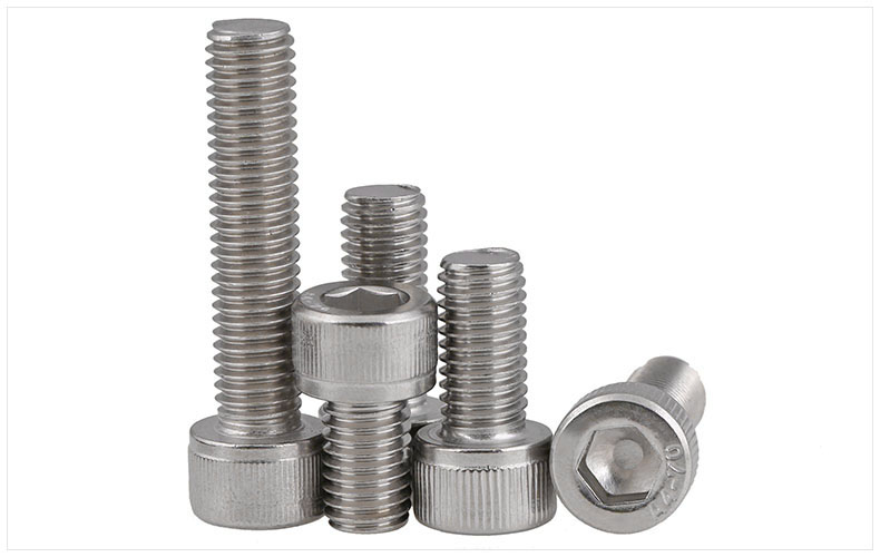 DIN912 316 stainless steel bolts high strength hex socket screws M2 M2.5 M3 M4 M5 M6 screws twill cylindrical head bolts din912 304 stainless steel screws hex socket screws reverse thread left left teeth m6 m8 m10 m12 screws twill cylindrical head