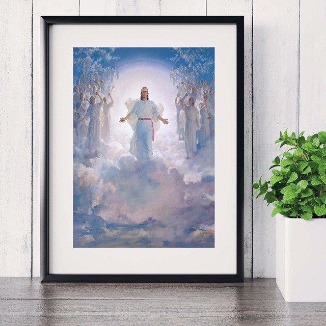 Jesus Christ Shining Portrait Canvas Art Print Painting Poster Wall Pictures For Room Decorative Home Decor & Jesus Christ Shining Portrait Canvas Art Print Painting Poster Wall ...