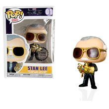 FUNKO POP MARVEL Avengers: Endgame Stan Lee with Infinity Gauntlet & QUAKE Action Figure Toys For Children Christmas gift(China)