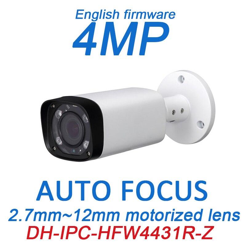 DH 4MP POE CCTV Камера iPC-HFW4431R-Z 2,8 ~ 12 мм с переменным фокусным расстоянием Моторизованный объектив английский прошивки ИК Сеть IP пуля Камера без ло...