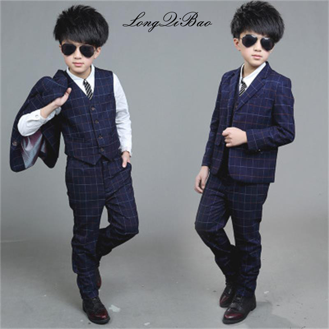 9503804ee9a4 Boys suit 2018 spring and autumn models Children s plaid suits ...