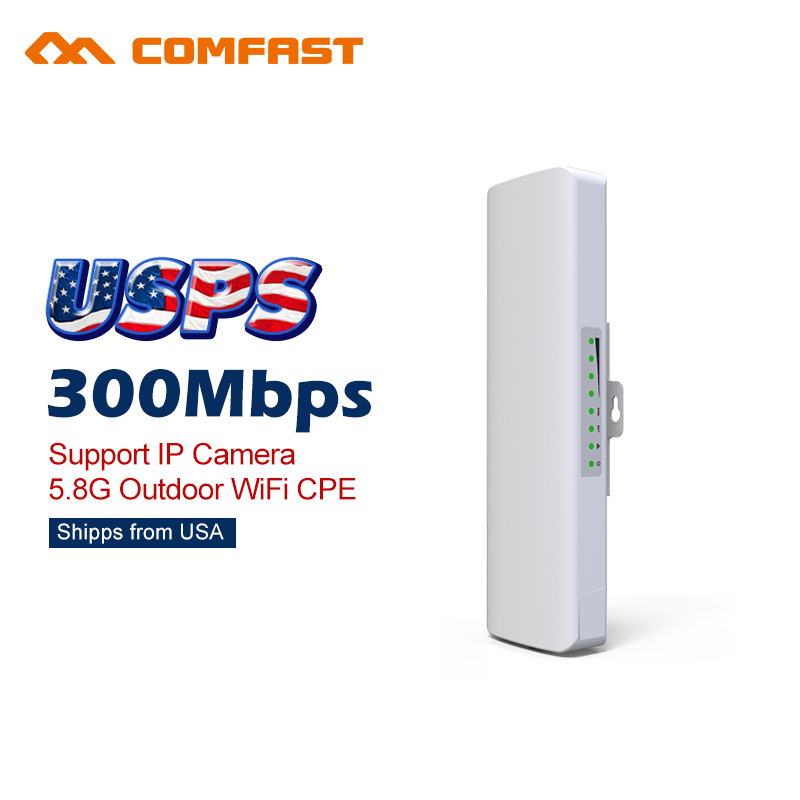 ФОТО 300Mbps Outdoor CPE 5.8G Comfast Wireless wi-fi Access Point Wifi Bridge 1-3KM AP Range Extender Routers POE WIFI Repeater cpe
