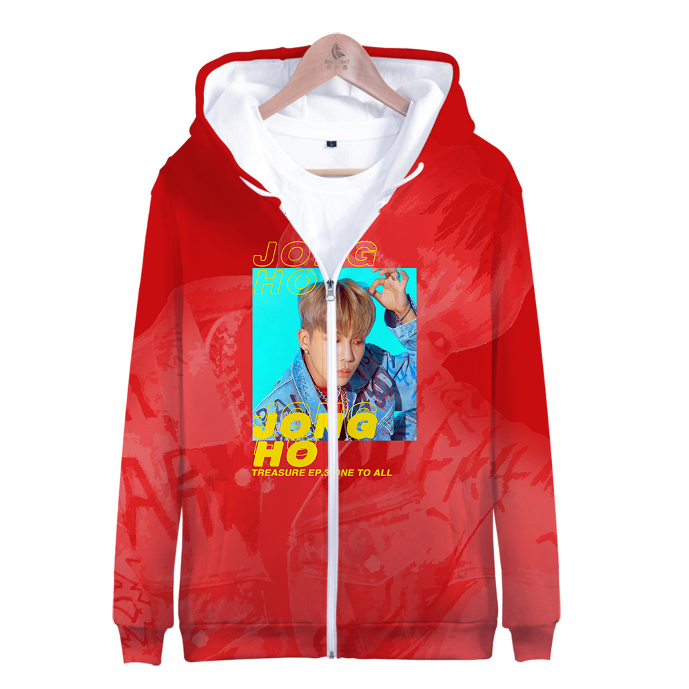 2019 hot sale ATEEZ KPOP Zipper Jacket 3D Hoodies Sweatshirt Women Harajuku Kpop ATEEZ Hoodies Women Plus Size for women(China)