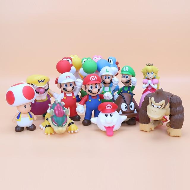 8 15cm Super Mario Bros Bowser Koopa Yoshi Mario Luigi