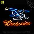 Неоновая вывеска для Budweise самолет неоновые лампочки вывеска пивной бар Настоящее неоновое стекло трубка вывеска ручной работы публицидад ...